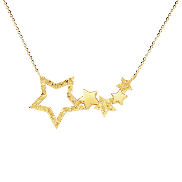 18K Saudi Gold Choker with Multiple Star