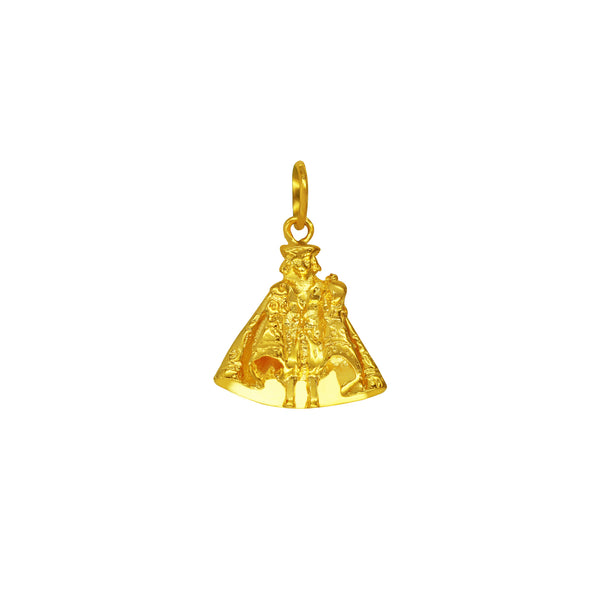 18K Chinese Gold Sto Niño Body Pendant