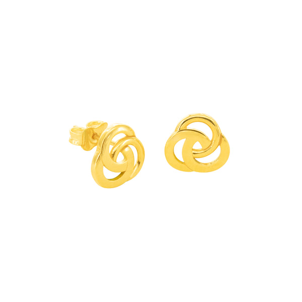 18K Chinese Gold Fancy Stud Earrings