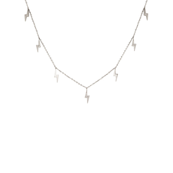 Charmed Diamond Choker in 14K White Gold