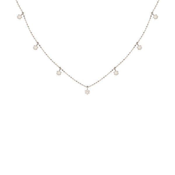 Charmed Diamond Necklace in 14K White Gold