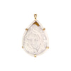 "The Modern Muse Collection ""MUTED EUPHORIA"" Conch Shell Cameo Pendant/Brooch"