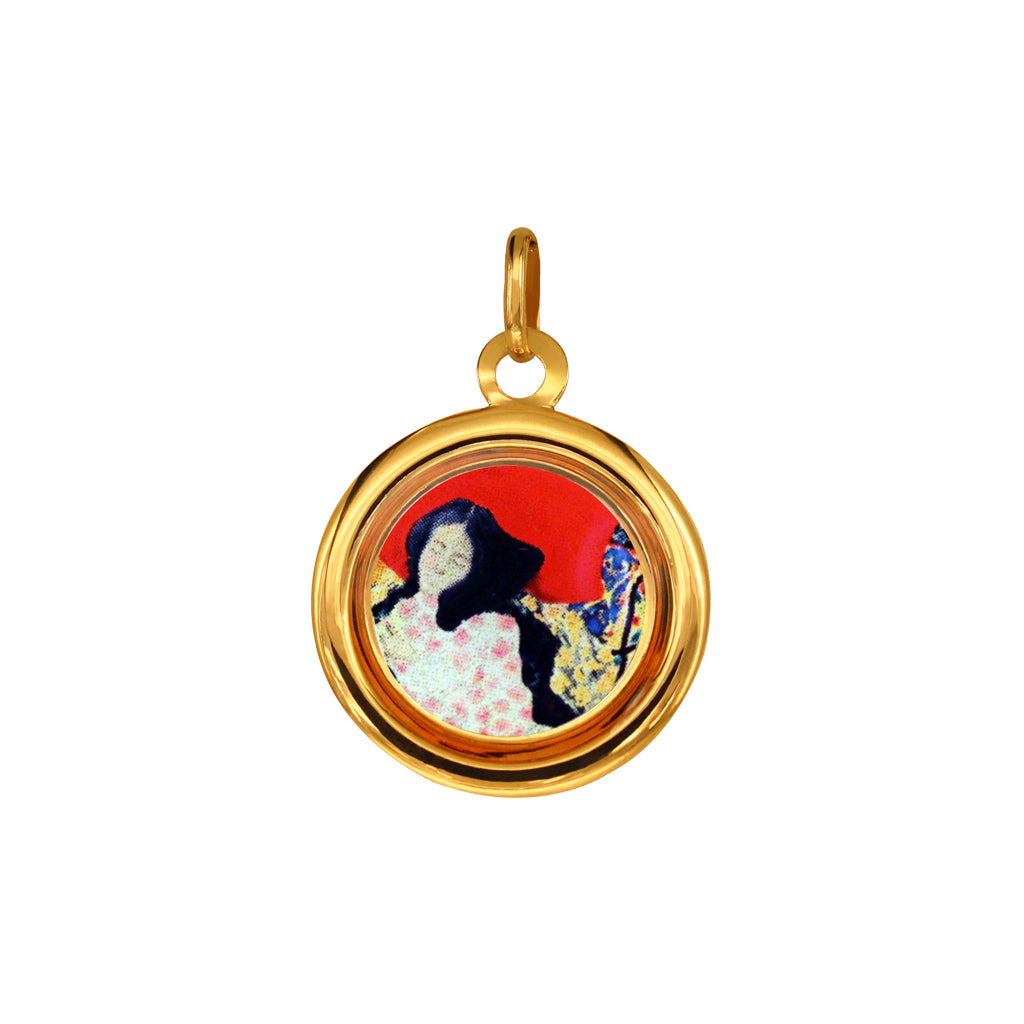 "The Modern Muse Collection ""IN FULL BLOOM"" Italian Gold Pendant"