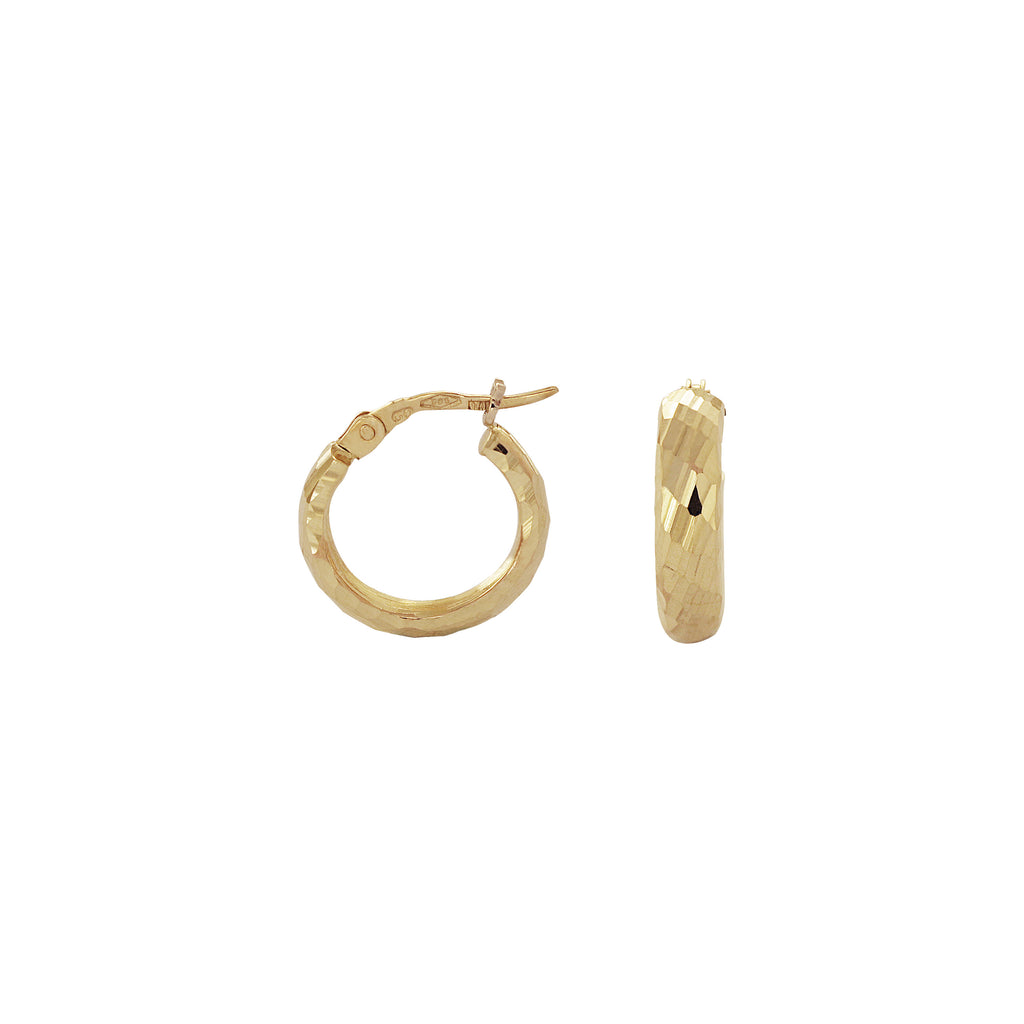 14K Italian Gold Hoop Earrings