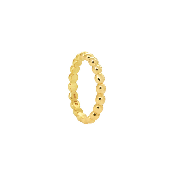 14K Italian Gold Large Perlee Dots Ring