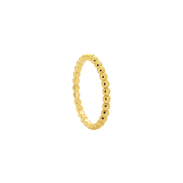 14K Italian Gold Medium Perlee Dots Ring