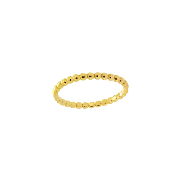 14K Italian Gold Small Perlee Dots Ring