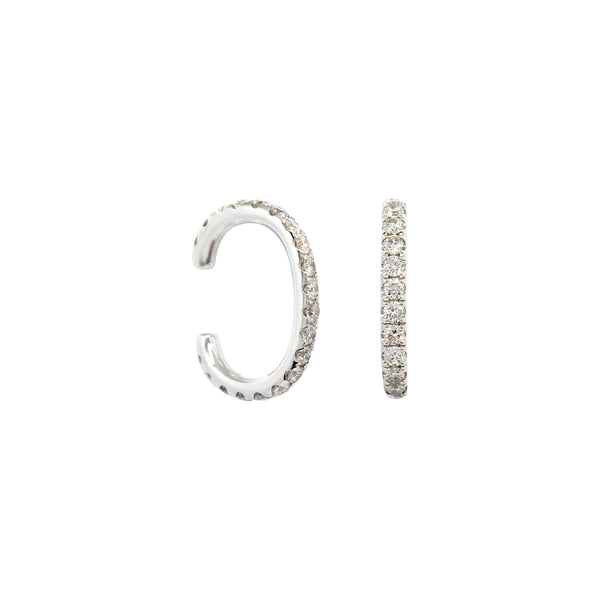 Diamond Ear Cuffs Earrings in 18K White Gold