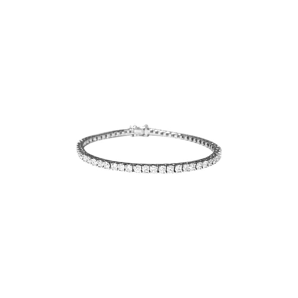 Tennis Diamond Bracelet in 18K White Gold