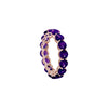 Amethyst Full Eternity Ring in 14K Rose Gold by Royal Gem