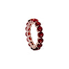 Garnet Full Eternity Ring in 14K Rose Gold by Royal Gem
