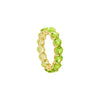 Peridot Full Eternity Ring in 14K Yellow Gold