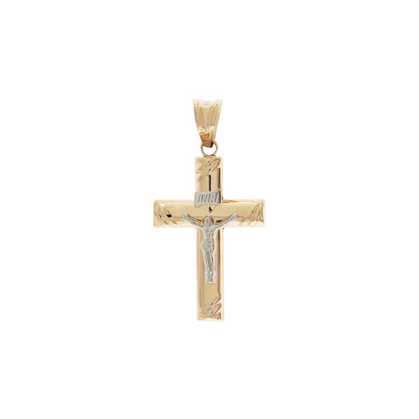 14K Italian Gold Cross Pendant