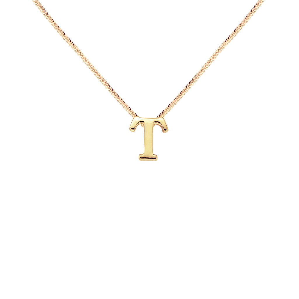 MyGold 18K Saudi Gold Choker with Initial T Charm