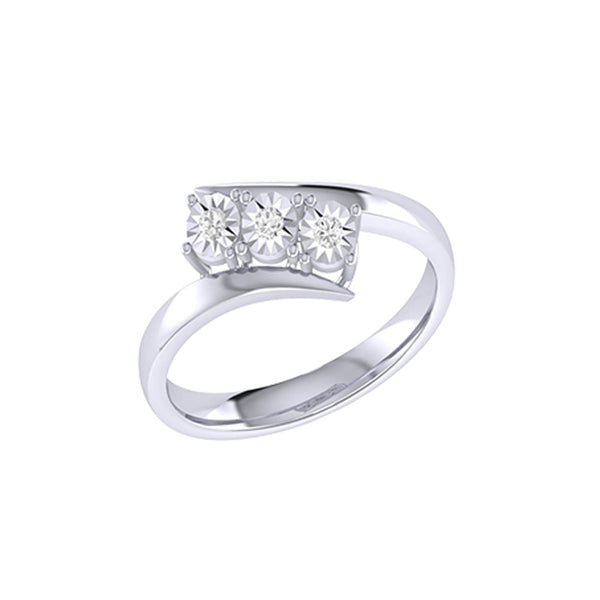 Diamond Tru Radiance Channel Set Ring .14Ct In 14K White Gold