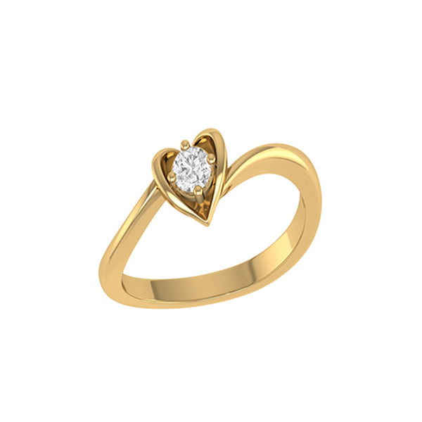 Diamond Tru Radiance Heart Ring .11Ct In 14K White Gold