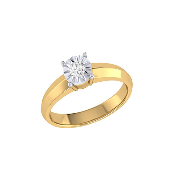 Diamond Tru Radiance Classic Engagement Ring .29Ct In 14K Yellow Gold