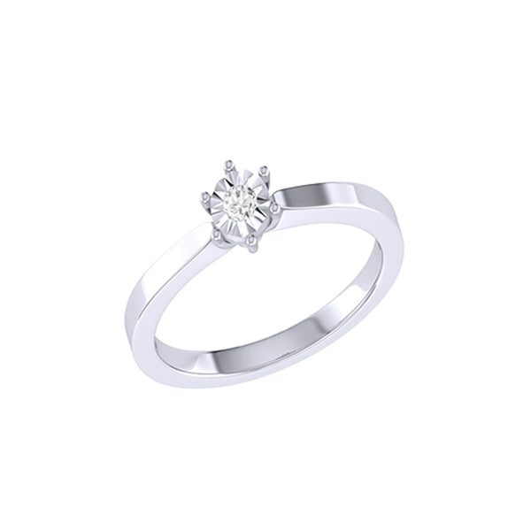 Diamond Tru Radiance Classic Engagement Ring .11Ct In 14K White Gold