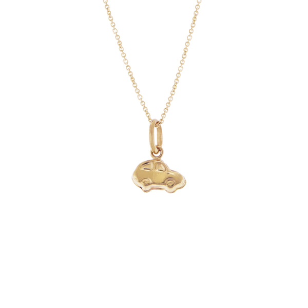 14k Italian Gold Choker Necklace with Car Charm