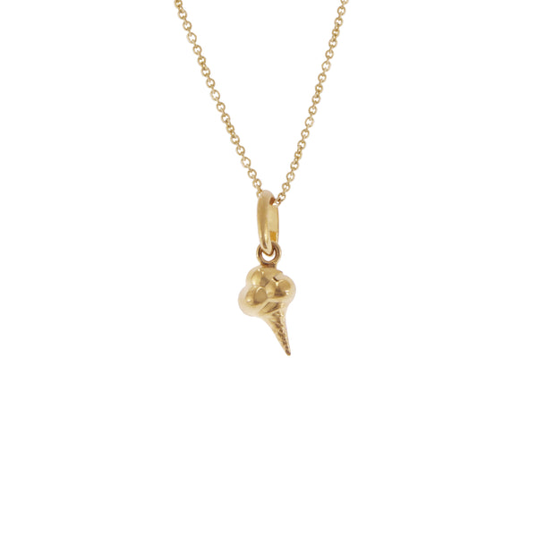 14K Italian Gold Choker Necklace with Ice Cream Charm