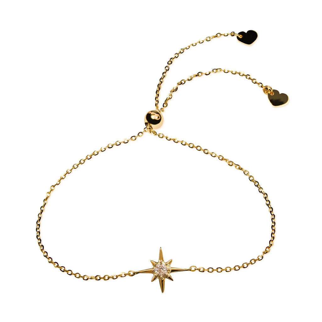 Affinity Star Bracelet set in 14k Yellow Gold