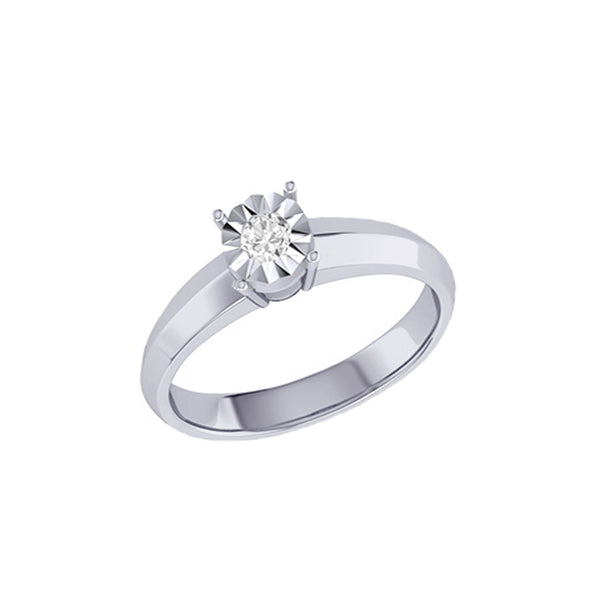 Diamond Tru Radiance Classic Engagement Ring .23Ct In 14K Yellow Gold