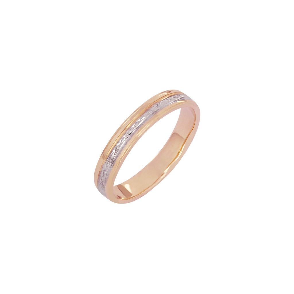 14K Italian Gold Janus Wedding Ring