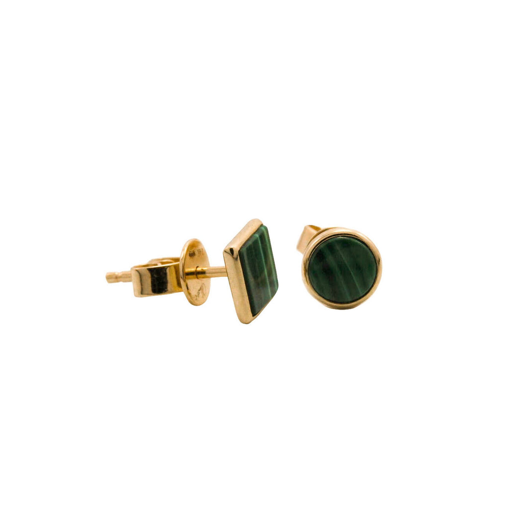 Keepsake Collection 5th Avenue Mismatched Malachite Earrings