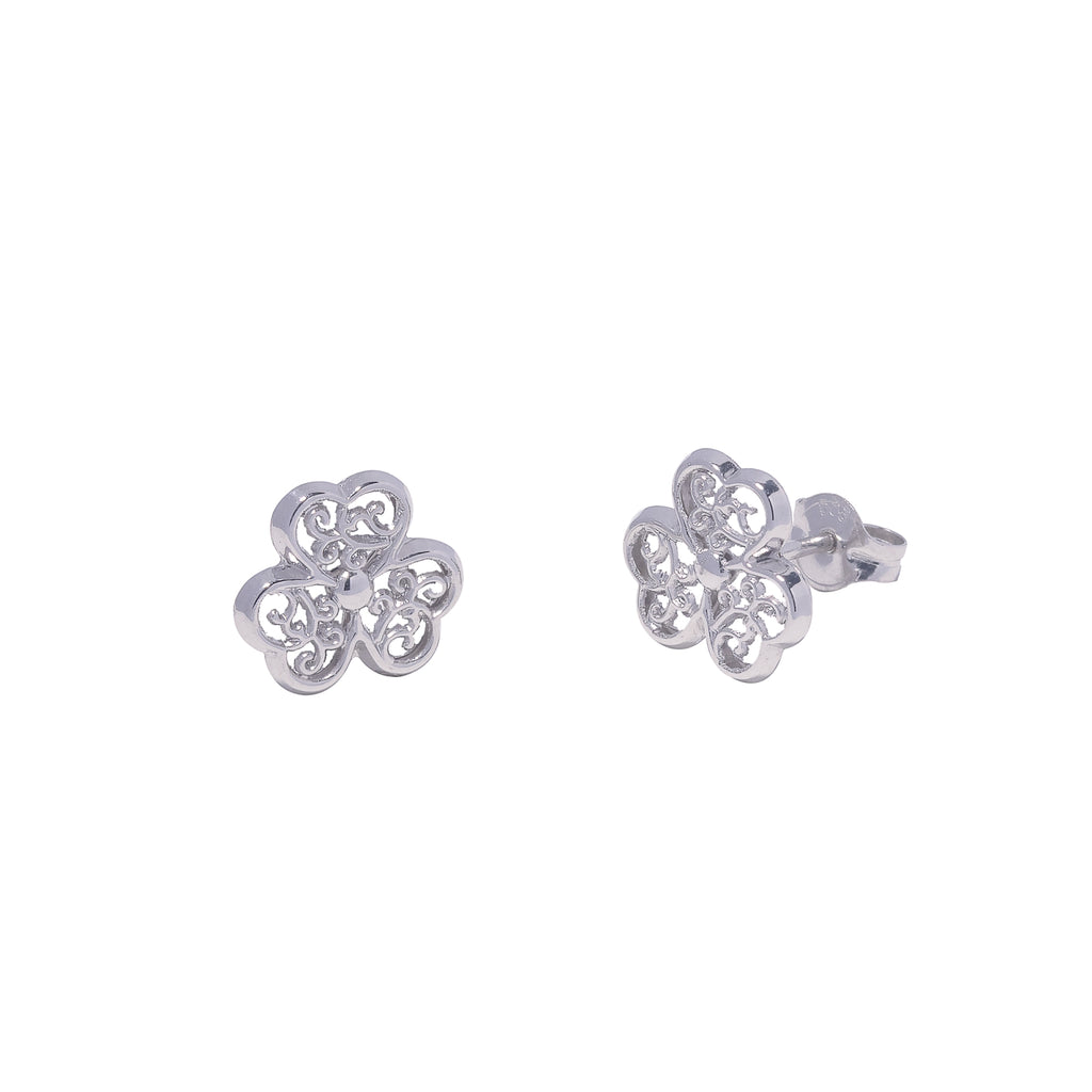 14K Italian Gold Kids Flower Stud Earrings