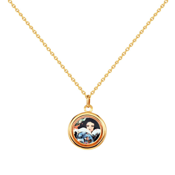 "The Modern Muse Collection ""A GLIMMER IN THE GARDEN"" Italian Gold Necklace"