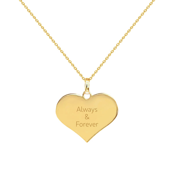 Always and Forever Gold Heart Necklace