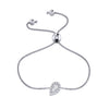 Affinity Collection Diamond Pear Bracelet Set in 14k White Gold
