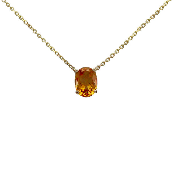 Keepsake Collection Citrine Oval Necklace