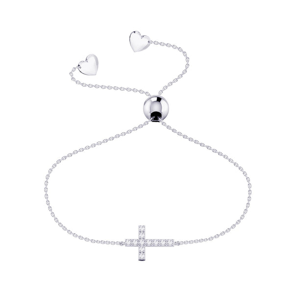 Affinity Collection Cross Bracelet set in 14k White Gold