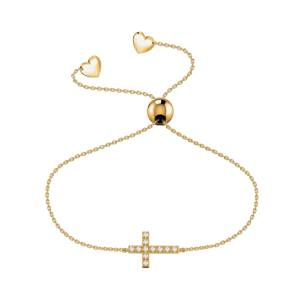 Affinity Collection Cross Bracelet set in 14k Yellow Gold