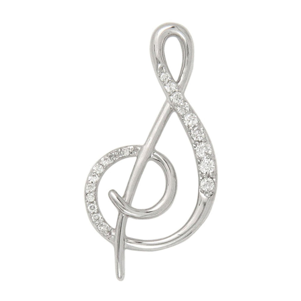 Diamond S Initial Pendant .10CT Set in 14k White Gold
