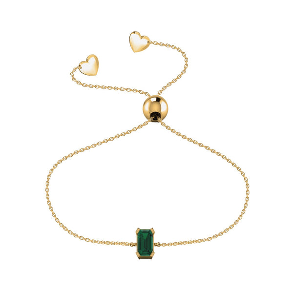 Affinity Collection Emerald Friendship Bracelet Set in 14k Yellow Gold
