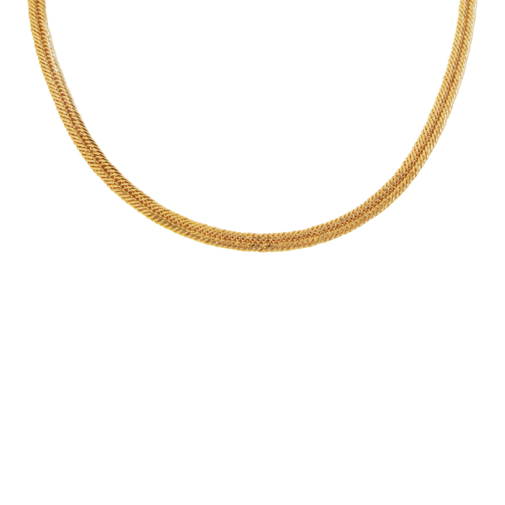 18K Saudi Gold Japan Chain Necklace