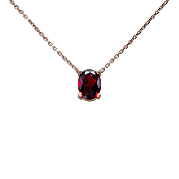 Keepsake Collection Garnet Oval Necklace