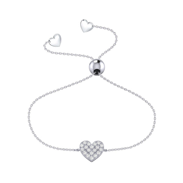 Affinity Collection Heart Bracelet set in 14k White Gold
