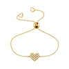 Affinity Collection Diamond Heart Bracelet set in 14k Yellow Gold
