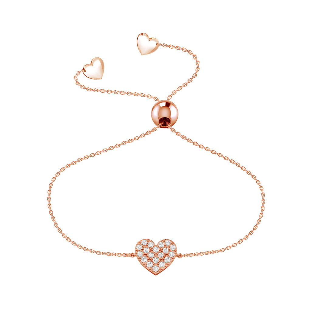 Affinity Collection Heart Bracelet set in 14k Rose Gold