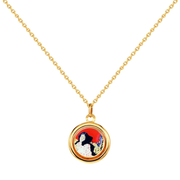 "The Modern Muse Collection ""IN FULL BLOOM"" Italian Gold Necklace"