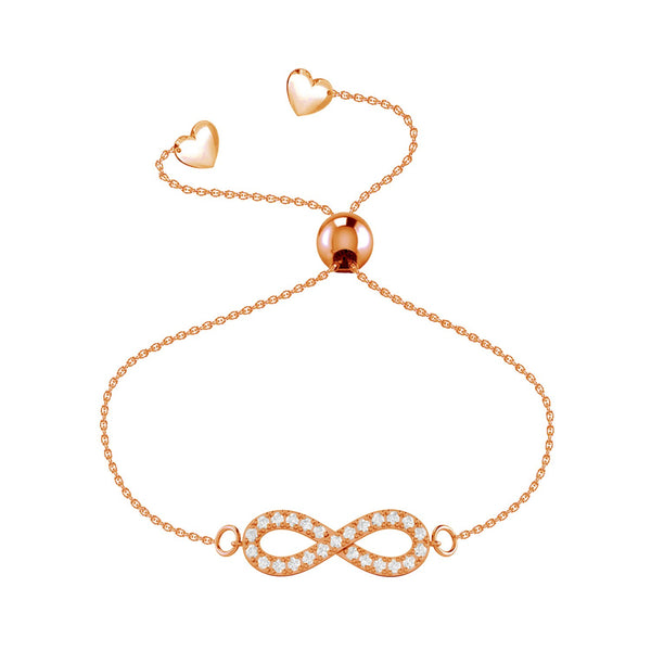 Affinity Collection Infinity Bracelet set in 14k Rose Gold