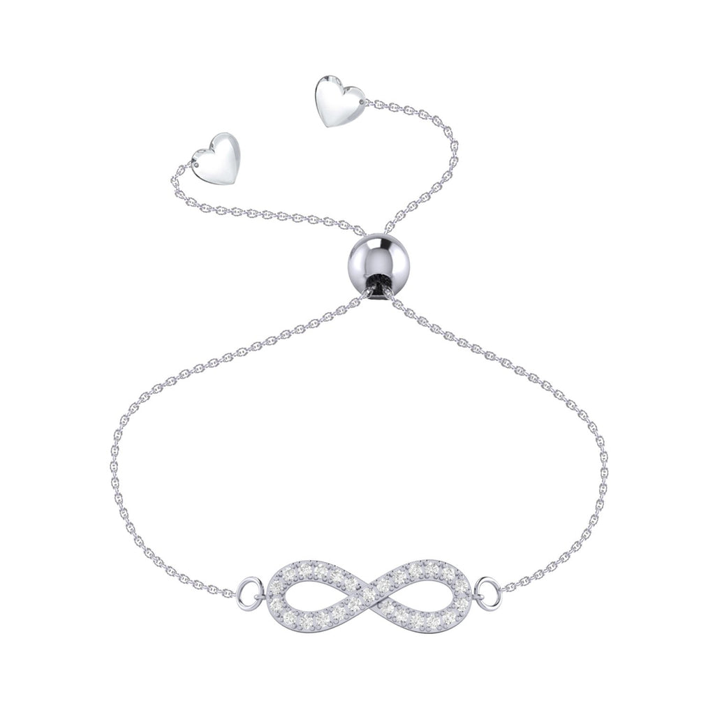 Affinity Collection Diamond Infinity Bracelet set in 14k White Gold
