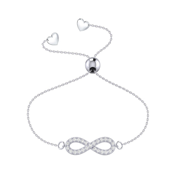 Affinity Collection Infinity Bracelet set in 14k White Gold