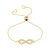 Affinity Collection Infinity Bracelet set in 14k Yellow Gold