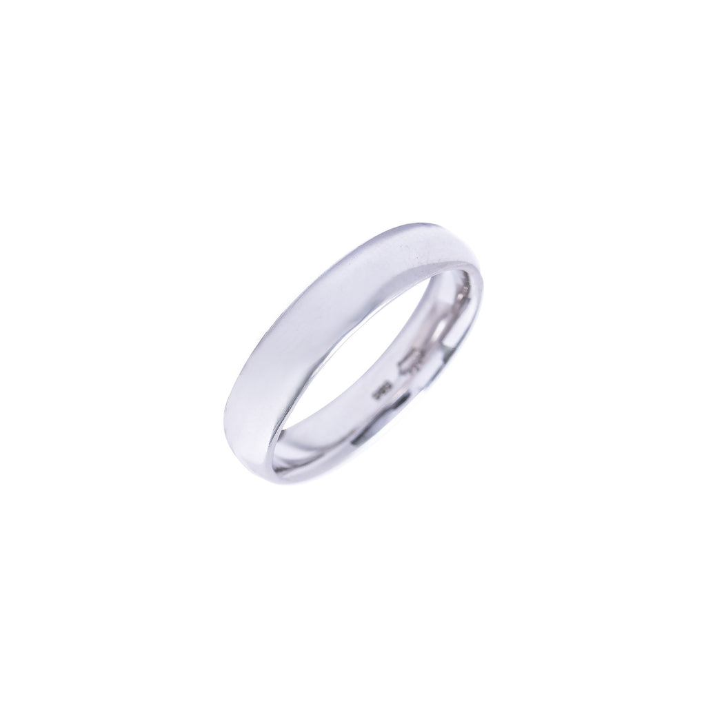 14K Italian Gold White Bacchus Wedding Ring