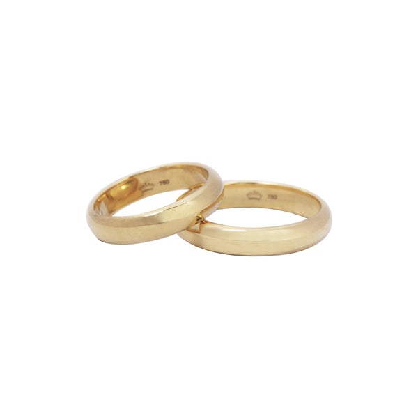 14K Italian Gold Yellow Bacchus Wedding Ring
