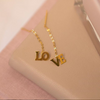 18K Chinese Gold LOVE Short Stringer Earrings